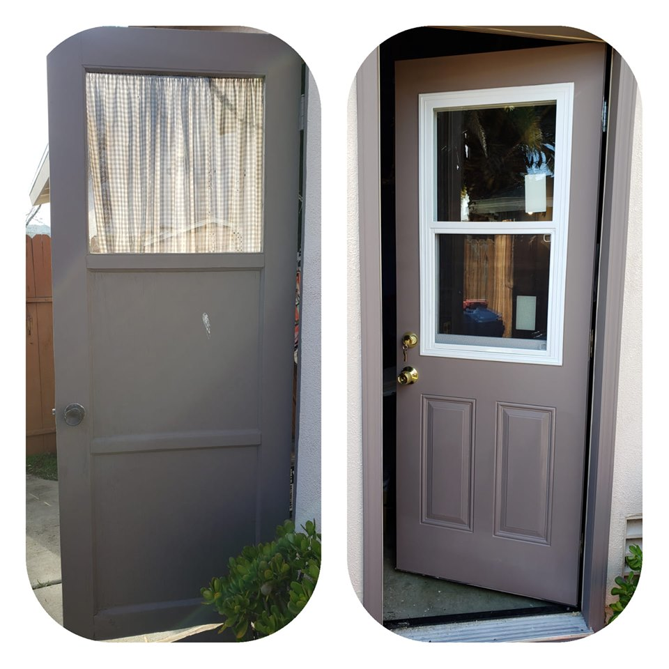 Before and after door